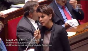 Fonds d'amorçage : Question au Gouvernement et réponse de Najat Vallaud-Belkacem