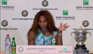 TENNIS - RG (F) - Williams : «Beaucoup plus décontractée»