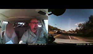 Double accident de voiture... Dashcam Crash