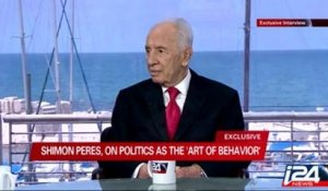 Exclusive television interview with Israeli President Shimon Peres on i24news