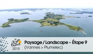 Paysage du jour / Landscape of the day - Étape 9 (Vannes > Plumelec) - Tour de France 2015