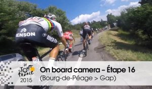 Caméra embarquée / On board camera - Stage 16 (Bourg-de-Péage  Gap) - Tour de France 2015