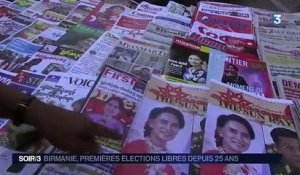 Elections en Birmanie : Aung San Suu Kyi largement favorite