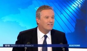 Nicolas Dupont-Aignan invité du 12/13 de France 3 Paris Île-de-France
