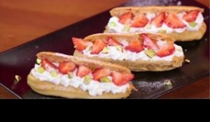 Eclairs fraises chantilly - 750 Grammes
