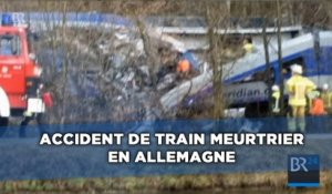 Accident de train meurtrier en Allemagne