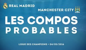 Real Madrid - Manchester City : les compos probables !
