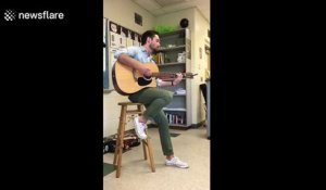 History teacher reveals his hidden talent to students