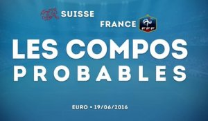 Les compositions probables de Suisse-France