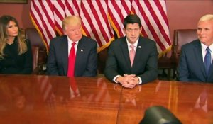 Trump rencontre Paul Ryan au Capitole