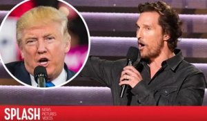 Matthew McConaughey dit qu'Hollywood devrait embrasser Donald Trump