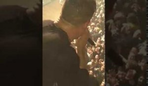 Greg jumps off balcony, Dillinger Escape Plan, Webster Hall, 10/15