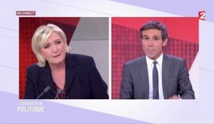 France 2 : clash au JT entre Marine Le Pen et David Pujadas
