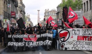 Manifestation anti-FN à Bordeaux