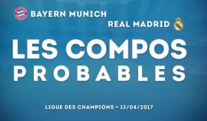 Bayern Munich - Real Madrid : les compos probables