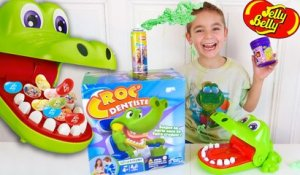 CROCODILE DENTIST CHALLENGE - Surprises ou Jelly Belly  - Jeu Croc Dentiste