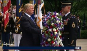 Donald Trump au cimetière d'Arlington à l'occasion du Memorial Day