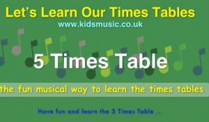 Kidzone - Let's Learn Our Times Tables - 5 Times Table