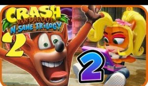 Crash Bandicoot N. Sane Trilogy Walkthrough Part 2 (PS4) Crash 2 - World 2
