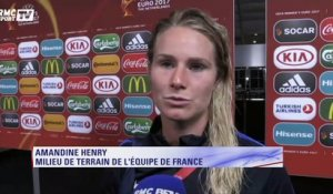 "France-Islande (1-0) - Amandine Henry : ""Beaucoup de stress et de pression"""