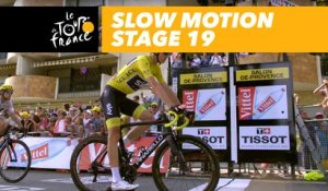 L'arrivée de Froome au ralenti / Froome's finish in slow motion - Étape 19 / Stage 19 - Tour de France 2017