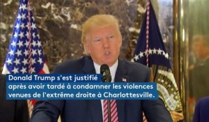 Donald Trump change d'avis sur les violences de Charlottesville
