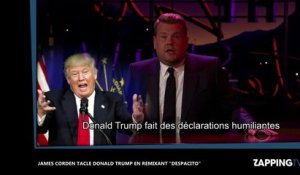 "Donald Trump : James Corden le tacle en remixant ""Despacito"" (vidéo)"
