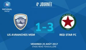 J4 : US Avranches MSM - Red Star FC (1-3), le résumé
