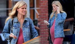 Pregnant Brooklyn Decker Shows Off Baby Bump in New York City