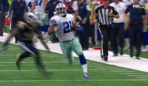 Dak Prescott drops it off for Ezekiel Elliott who gallops for 31 yards