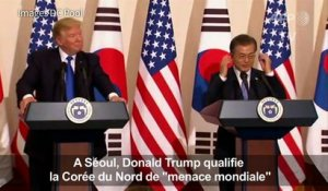 "Trump qualifie la Corée du Nord de ""menace mondiale"""