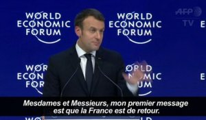 """France is back"", clame Macron à Davos"