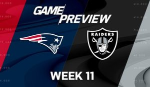 Patriots vs. Raiders Week 11 game preview