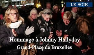 Hommage à Johnny Hallyday Grand-Place de Bruxelles