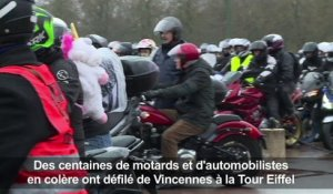 Manifestation de motards contre la limitation à 80 km/h