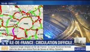 Neige: circulation difficile en Ile-de-France