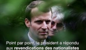 Macron repousse les revendications des nationalistes corses