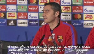 Football/Barcelone: Valverde veut marquer à Stamford Bridge