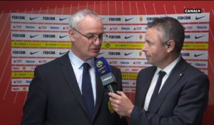 La réaction de Claudio Ranieri