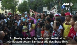 Manifestation anti-Trump de migrants au Mexique