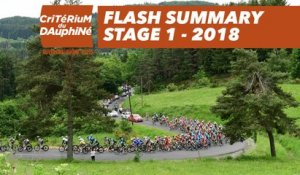 Flash Summary - Stage 1 (Valence / Saint-Just-Saint-Rambert) - Critérium du Dauphiné 2018