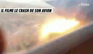 Il filme le crash de son avion