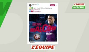 Le Barça officialise Malcom - Foot - ESP - Transferts