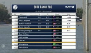 Adrénaline - Surf : Courtney Conlogue with a 6.1 Wave from Surf Ranch Pro, Women's Championship Tour - Qualifying Round