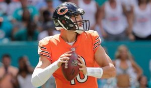 Trubisky fires a laser to Robinson for a 12-yard TD catch