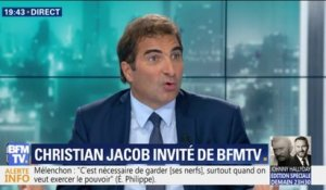 "Remaniement: Christian Jacob reproche que ""pendant quinze jours, on a bloqué le travail du gouvernement"""