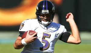 Flacco breaks loose on 13-yard rush