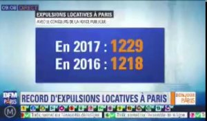En 2017, Paris connait un record du nombre d'expulsions locatives