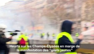 """Gilets jaunes"": Castaner accuse Le Pen des violences à Paris"