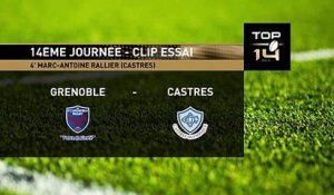 TOP 14 - Essai Marc-Antoine RALLIER (CO) - Grenoble - Castres - J14 - Saison 2018/2019